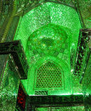 Shah Cheragh mosque mirror mosaic arch in Shiraz, Iran Stock Photo