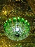 Shah Cheragh mosque mirror mosaic ceiling, Shiraz Iran Stock Image