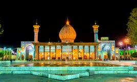 Shah Cheragh, pogrzebowy zabytek i meczet w Shiraz, Iran, - obraz royalty free