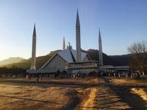 Shah Faisal Moschee stockbild