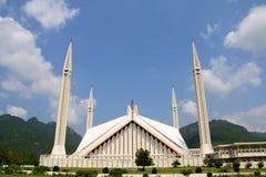 Shah Faisal Moschee Islamabad Stockfotografie