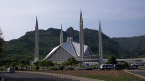 The Shah Faisal Mosque. Architecture of the Shah Faisal Mosque, located in the city of Islamabad in Pakistan Stock Photos