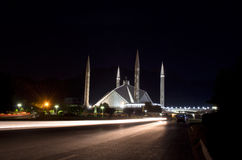 Shah Faisal Mosque Islamabad Royalty Free Stock Photo