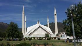 Shah Faysal Masjid 免版税库存照片