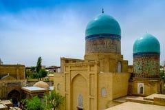 Shah-I-Zinda纪念复合体,大墓地在撒马而罕,乌兹别克斯坦 库存照片