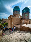 Shah-I-Zinda纪念复杂。乌兹别克斯坦。 免版税库存照片