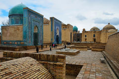 Shah-i-Zinda Ensemble in Samarkand Stock Photos