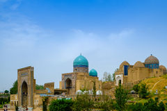 Shah-I-Zinda memorial complex, necropolis in Samarkand, Uzbekistan. UNESCO World Heritage Royalty Free Stock Image