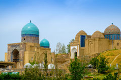 Shah-I-Zinda memorial complex, necropolis in Samarkand, Uzbekistan. UNESCO World Heritage Royalty Free Stock Images