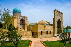Shah-I-Zinda memorial complex, necropolis in Samarkand, Uzbekistan. Stock Photos