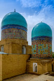 Shah-I-Zinda memorial complex, necropolis in Samarkand, Uzbekistan. UNESCO World Heritage Stock Photos
