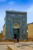 Shah-I-Zinda memorial complex, necropolis in Samarkand, Uzbekistan. Stock Image
