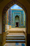 Shah-I-Zinda memorial complex, necropolis in Samarkand, Uzbekistan. Stock Photos