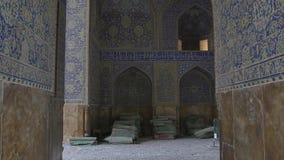 Shah Mosque interior light stock footage