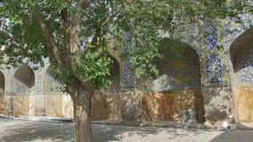 Shah Mosque Soleimanieh school yard stock video