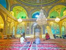 Shah ` s清真寺,德黑兰中央大厅  库存照片