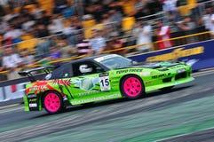 Shah Yusoff drifting his car at Formula Drift 2010 Stock Photography