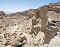 Shaharut dry stream in arava vally Judaean Desert, israel Stock Photos