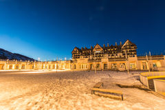 Shahdag - 27 Φεβρουαρίου 2015: Ξενοδοχεία τουριστών επάνω Στοκ φωτογραφίες με δικαίωμα ελεύθερης χρήσης