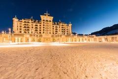 Shahdag - 27 Φεβρουαρίου 2015: Ξενοδοχεία τουριστών στις 27 Φεβρουαρίου σε Azerbijan Στοκ Εικόνες