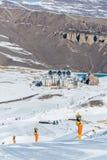 Shahdag - 27-ое февраля 2015: Туристские гостиницы дальше Стоковое Фото