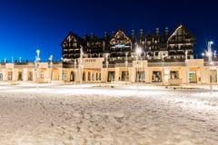 Shahdag - 27. Februar 2015: Touristische Hotels an Stockfotos