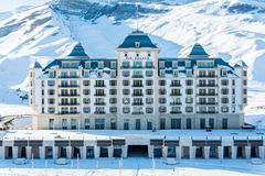 Shahdag - 27 FEBRUARI, 2015: Toeristenhotels  Royalty-vrije Stock Foto's