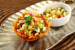 Shahi Aloo Tokri Chaat or Potato Basket Royalty Free Stock Photo