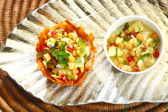 Shahi Aloo Tokri Chaat or Potato Basket Royalty Free Stock Photography