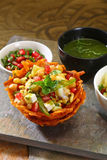 Shahi Aloo Tokri Chaat or Potato Basket Royalty Free Stock Images