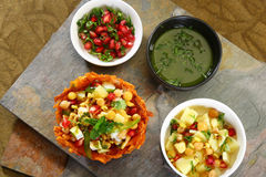 Shahi Aloo Tokri Chaat or Potato Basket Royalty Free Stock Photos
