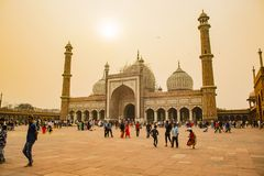 Shahi Jama Masjid, Delhi, India stock foto