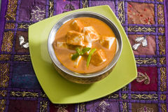 Shahi Paneer or Cheese. Cooked with Curry, Indian Dish Royalty Free Stock Image