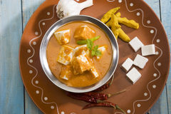 Shahi Paneer eller ost Arkivfoton