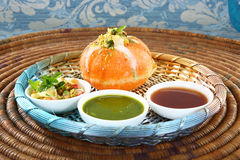 Shahi Raj Kachori - katchori filled with potato Stock Image