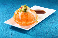 Shahi Raj Kachori - katchori filled with potato Stock Photos