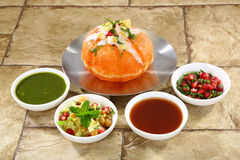 Shahi Raj Kachori, stuffed katchori filled with potato, sprout s Royalty Free Stock Photos