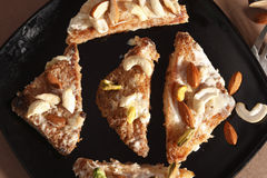 Shahi tukda is a dessert from India Royalty Free Stock Photos