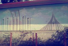 Shahid Minaar & Nationale Martr& x27; s monument royalty-vrije stock foto