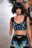 Shaholly Ayers chodzi Alexandra Frida pas startowego przy FTL Moda wiosną 2016 Obraz Stock