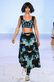 Shaholly Ayers walks Alexandra Frida runway at the FTL Moda Spring 2016 Royalty Free Stock Image