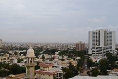 Shahrah E Faisal Karachi Arkivfoton