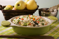 Shai Pulao or  Indian Vegetable Biryani Stock Images