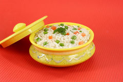 Shai Pulao or Vegetable Rice or Indian Vegetable Biryani Royalty Free Stock Photo