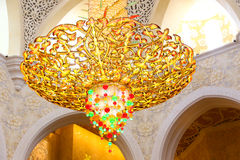 Shaiekh interno Zayed Mosque Immagini Stock