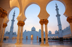 Shaik Zayed Grand Mosque Lizenzfreie Stockfotos