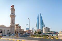 Shaikh Hamad Causeway street view. Manama, Bahrain Royalty Free Stock Image