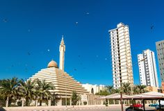Shaikh Nasser al-Sabah Mosque in Koeweit stock foto's