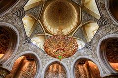 Shaikh zayed moskén i Abu Dhabi, UAE Arkivfoton