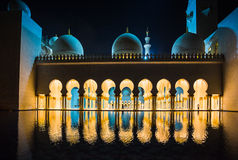 The Shaikh Zayed Mosque Stock Photography